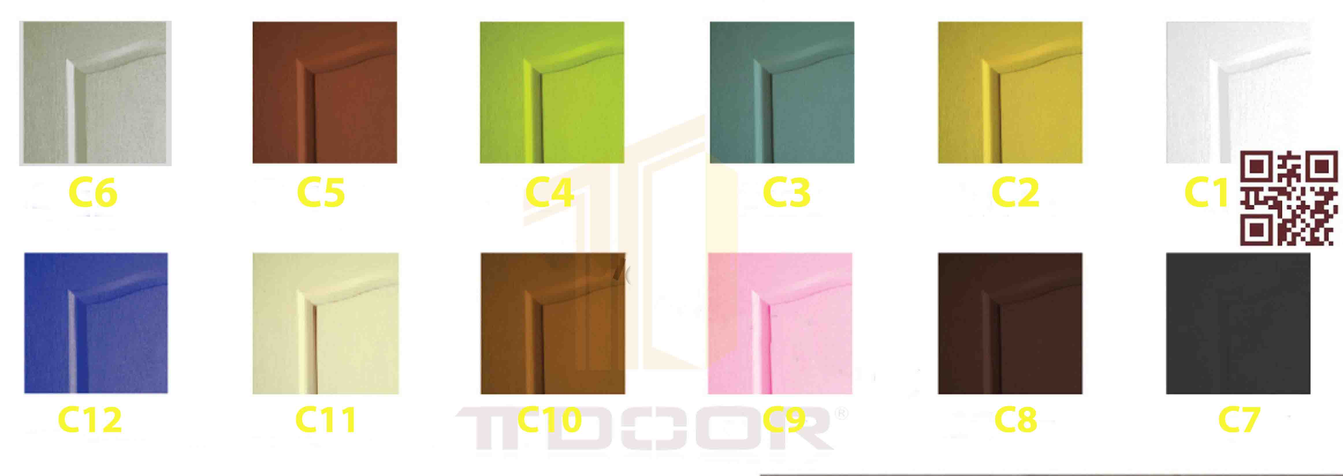 Màu cửa gỗ HDF
