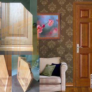 Cấu tạo cửa gỗ HDF Veneer