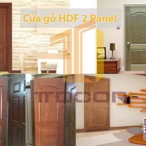 mẫu cửa gỗ HDF Veneer 2ô