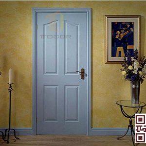 Cửa gỗ HDf sơn xanh