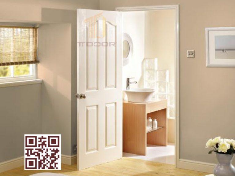 Mẫu cửa gỗ HDF sơn trắng