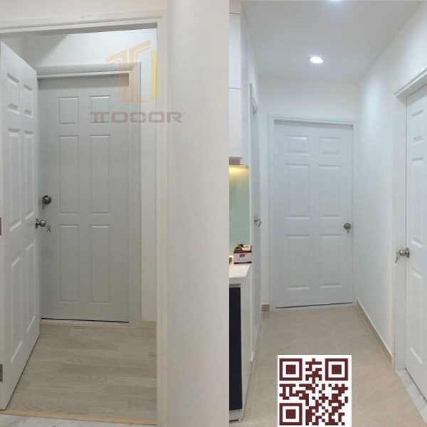 Mẫu cửa gỗ HDF 6 ô