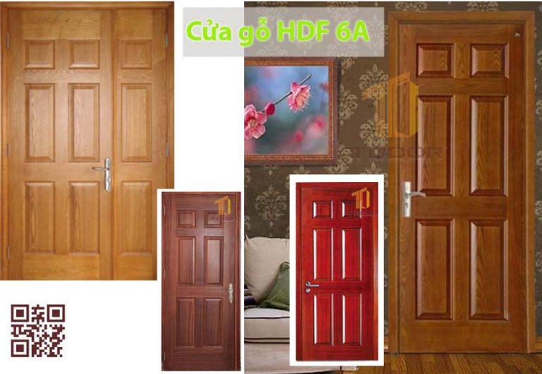 Cửa gỗ HDF Veneer ASH 6Ô