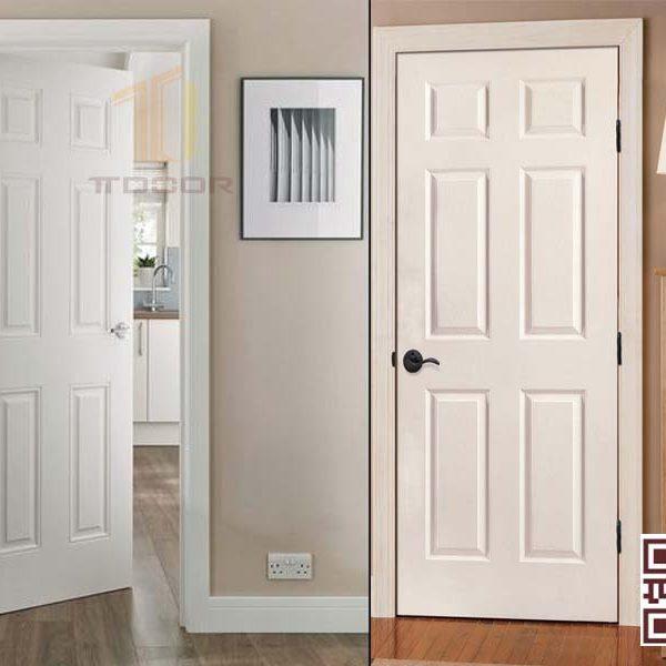 Mẫu cửa gỗ HDf 6 Panel đẹp