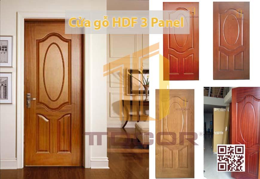 Mẫu cửa gỗ HDf Veneer 3A