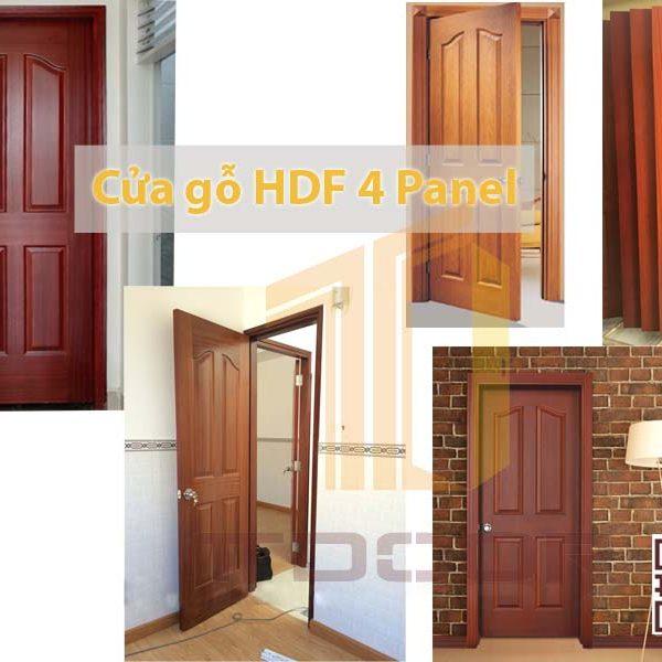 Cửa gỗ HDF Veneer 4 A