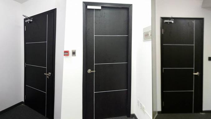 mẫu cửa gỗ mdf chạy rãnh