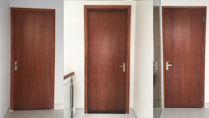 mẫu cửa gỗ MDF xoan đào