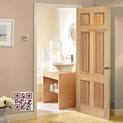 Cửa gỗ tự nhiên 1 cánh P1A6