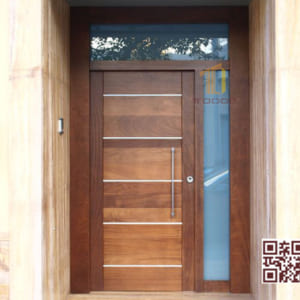Cửa gỗ tự nhiên 2 cánh P2S1