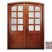Cửa gỗ tự nhiên 2 cánh P3A2K