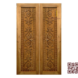 Cửa gỗ tự nhiên 2 cánh P3CT