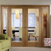 Cửa gỗ tự nhiên 4 cánh P4AK