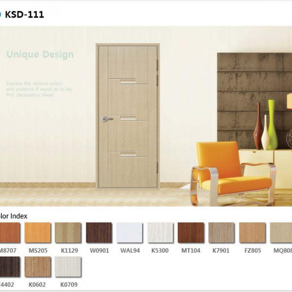 Cửa nhựa ABS mẫu KSD.111 cùng nhiều màu sắc cho khách hàng lựa chọn