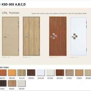 Mẫu cửa nhựa ksd 303