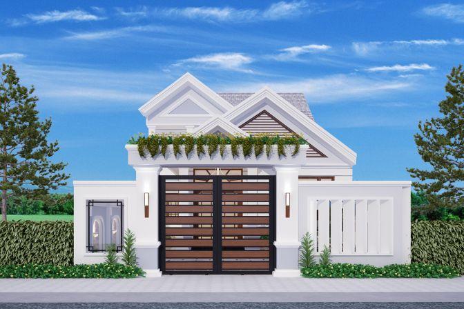 Mẫu 13: Mẫu nhà ở tầng 2 300 triệu ở khu vực nông thôn phù hợp với những khu nhà có diện tích nhỏ.