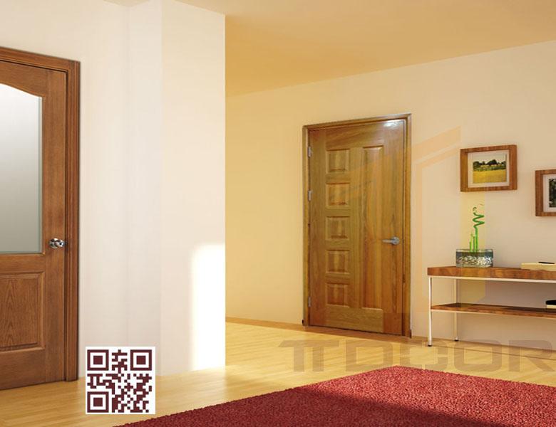 mẫu cửa gỗ HDF Veneer 6B