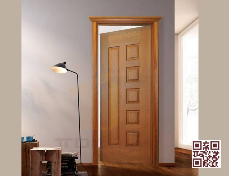 mẫu cửa gỗ HDf Veneer 6B Sapeli