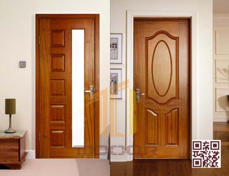 Mẫu cửa gỗ HDf Veneer đẹp