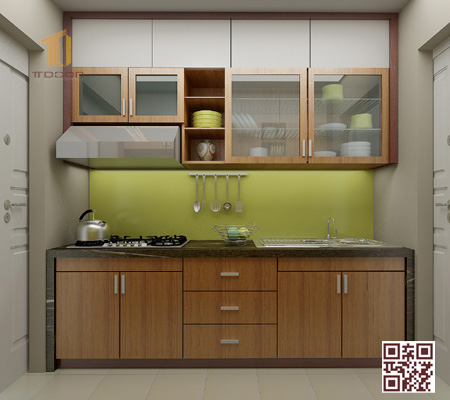 Tủ Bếp gỗ Ghép I02