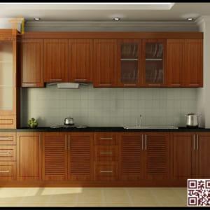 Tủ bếp gỗ Ghép I03