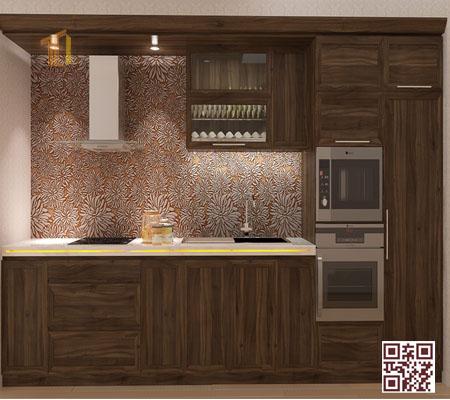 Tủ bếp gỗ ghép i04