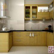 Tủ bếp gỗ ghép U01