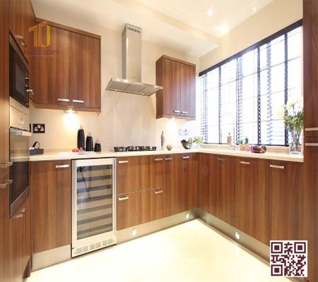 Tủ bếp gỗ Ghép U02