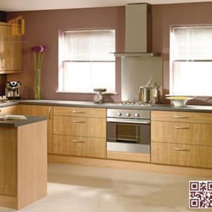 Tủ bếp gỗ ghép U04