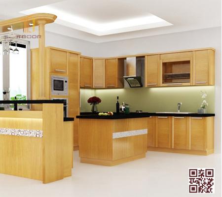 Tủ bếp gỗ Ghép UD01