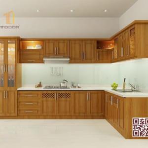 Tủ Bếp Gỗ Tự Nhiên TT.L01