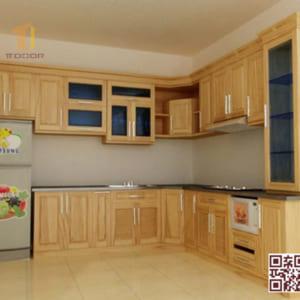 Tủ Bếp Gỗ Tự Nhiên TT.L10
