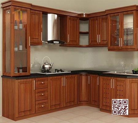 Tủ Bếp Gỗ Tự Nhiên TT.L12