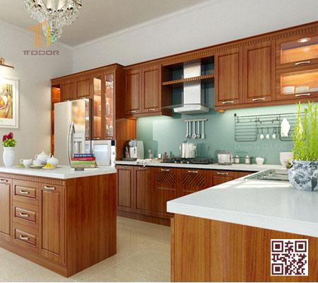 Tủ Bếp Gỗ Tự Nhiên TT.ID01