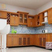 Tủ Bếp Gỗ Tự Nhiên TT.U03