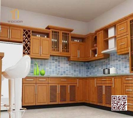 Tủ Bếp Gỗ Tự Nhiên TT.U02