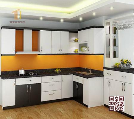 Tủ bếp MDF I04