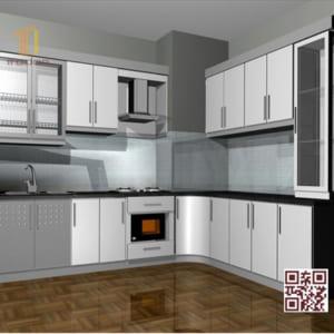 Tủ bếp MDF I06