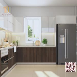 Tủ bếp Melamine I02