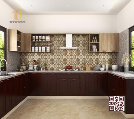 Tủ bếp Melamine U01