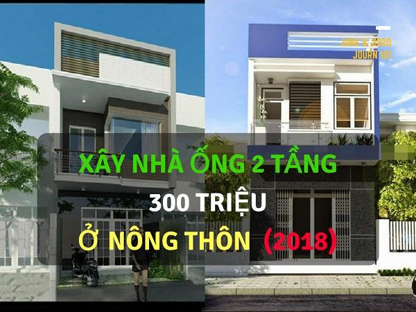Xây Nhà Ống 2 Tầng 300 Triệu Ở Nông Thôn