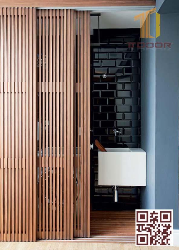 Cửa gỗ lùa kiểu Nhật Bản