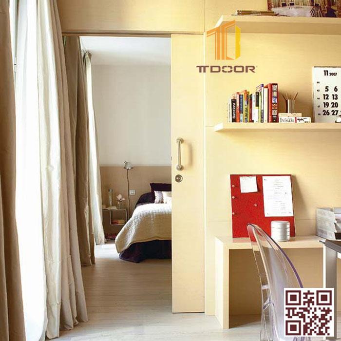 Mẫu cửa lùa trượt âm tường cho phòng ngủ