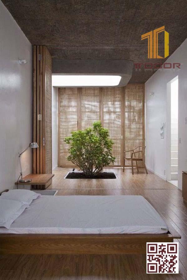 Mẫu Cửa gỗ xếp trượt cho phòng ngủ