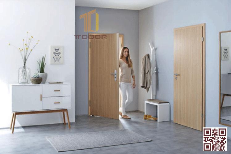 Cửa gỗ Melamine cho phòng ngủ
