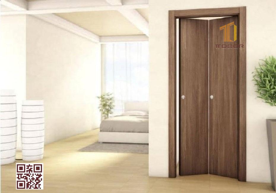 Cửa gỗ Melaminelàm cửa lùa gấp