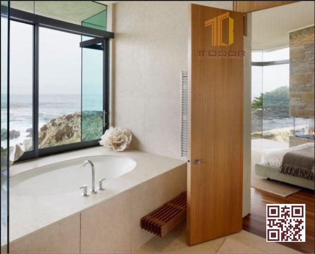Cửa gỗ Melaminelàm cửa ngăn phòng ngủ & nhà vệ sinh