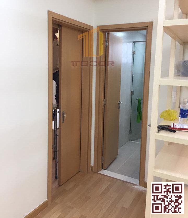 Cửa gỗ Melaminelàm ngăn phòng ngủ & nhà vệ sinh