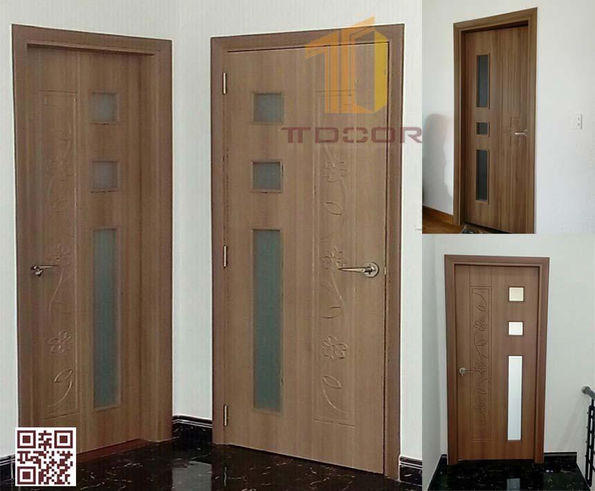 cửa nhựa giả gỗ ABS nhà vệ sinh, nhà Tắm Màu kos-204