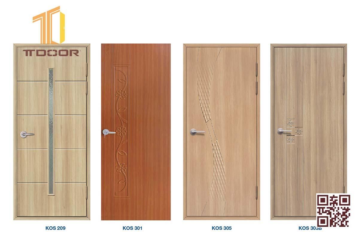 cửa nhựa giả gỗ cao cấp ABS nhà vệ sinh, nhà Tắm có ô kính làm cửa lùa